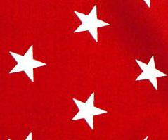 Röd - Vita stjärnor
