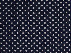 Marinblå - Vita prickar