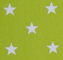 Limegrön - Vita stjärnor